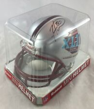 Autographed Mini Riddell Helmet Hines Ward Super Bowl XLII Pittsburgh Steelers
