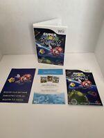 Super Mario Galaxy Case & Manuals Only No Game (Nintendo Wii, 2007) NO GAME!