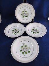 "White Rose China Japan Set of 4 Rimmed 8""  Soup Bowls  #3939 EUC"