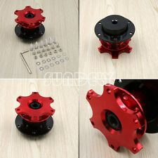 UNIVERSAL RED CAR QUICK RELEASE SNAP OFF STEERING WHEEL HUB ADAPTER BOSS KIT AU