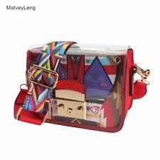 Shoulder Messenger Bag Summer PVC Bag Transparent Small Crossbody Bag Wide Strap