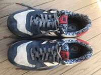 NEW BALANCE 574 Paisely Pack Canvas Suede Blue/Red Trainer Shoes Sz 10 ML574LRR