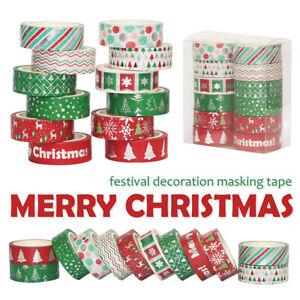 12st Weihnacht Folie Washi Tape Set DIY Scrapbooking Klebeband Masking Card Deko