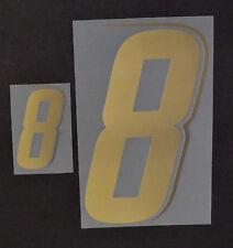 """Grafica UFFICIALE ITALIA MONDIALI 2006 Home Numero e Numerino """"8"""" oro"""