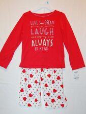 "NWT OshKosh B'Gosh ""Always Be Kind"" Pajamas 2-Pieces Red/White Size 5T"
