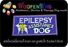 assistance dog patch K9 Embroidered iron on EPILEPSY Patch