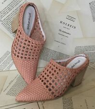NIB Jeffrey Campbell Bootie Mule Western Weaved pink Leather 10 NIB