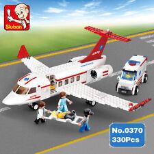 Sluban B0370 Aviation Medical Plane Ambulance Vehicle DIY Building Blocks Toy