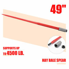 """Compact 49"""" Hay Bale Spike with 4500lb Capacity Tool for Truck Tractor More"""