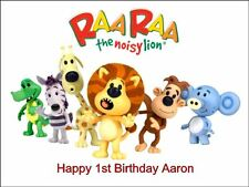 A4 RARA THE NOISY LION EDIBLE ICING BIRTHDAY CAKE TOPPER