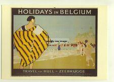 ad2763  -  LNER -  Holidays in Belgium via Hull -  modern poster advert postcard