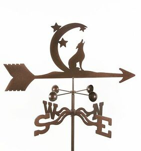 Coyote Howling at the Moon Weathervane Desert Vane w/ Choice of Mount