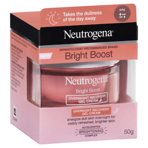Neutrogena Bright Boost Overnight Recovery Gel Cream 50g Energize Dull Skin