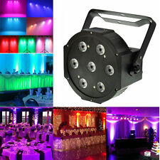 7x12 Watt 4in1 RGBW+Amber DMX512 Led Par Can Light DJ Stage Wedding Uplighting