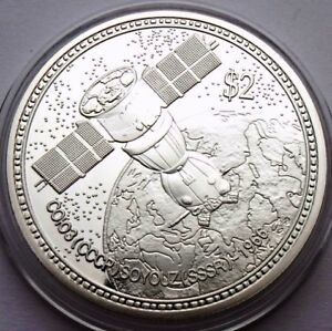 NIUE  2 DOLLARS 2014 SPACE - SHIPK SOJUZ PROOF 40mm