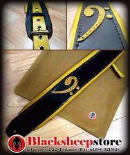 Tracolla in cuoio chiave di basso Guitar strap artigianato Made in Italy