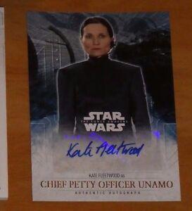 Topps STAR WARS Force Awakens Serie 2 Card Autograph KATE FLEETWOOD Carte Rare