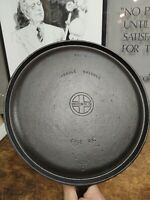 """Griswold 609 Cast Iron #9 Small Logo Handle Griddle 10""""  Restored Flat Seasoned"""