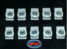 Ford Lincoln Mercury Factory Correct #8 Coarse Screw U Clip Panel J Nut 10pcs O