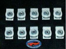 Ford Lincoln Mercury Factory Correct #8 Coarse Screw U Clip Panel J Nut 10pcs O