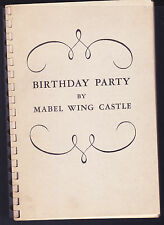 Birthday Party Mabel  Wing Castle, Signed, 1945