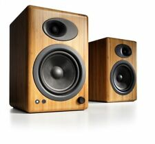Audioengine A5 Powered Multimedia Speakers Pair in Solid Bamboo