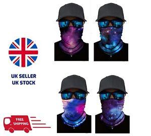 Balaclava Neck Tube Scarf Snood Face Mask Warmer Bandana Multi-use Galaxy Prints