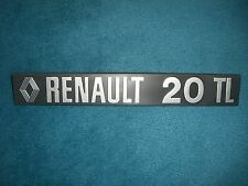 Emblema/BADGE RENAULT 20 TL, ca. 240 x 35 mm