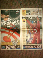 Dario Franchitti wins 2010 Indy 500 Indianapolis Star May 31 Newspaper Scotland