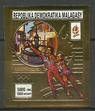 MADAGASCAR JEUX OLYMPIQUES OLYMPICS GAMES NON DENTELE IMPERF ** 1990 OR GOLD