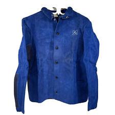 Air Liquide Premium Quality Dark Blue Leather Welding Jacket Medium New Sealed
