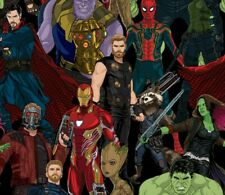 Fat Quarter Marvel Avengers Infinity War Fabric Comic Superhero Quilting Fq