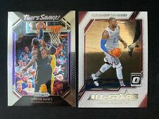 2-Card Insert Lot LeBron James Prizm and Optic Lakers Cavs