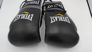 Everlast 2200155 Powerlock Training Gloves (Laced) Black/Grey 14oz