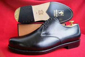 Apollo Gr. 8,5 (42,5) Derby Blucher Messing-Absätze NEU + Schuhspanner