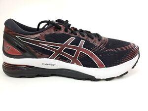 ASICS Gel-Nimbus 21 Casual Running Shoes Black Red Size 9.5