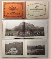 Bildband Album vom bayerischen Hochland um 1900 mit 1 Panorama & 29 Ansichten xz