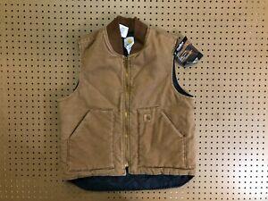 MENS LARGE - Carhartt V02 Sandstone Arctic Quilted Full Zip Vest