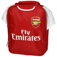 ARSENAL FC KIT SHIRT SHAPE INSULATED SCHOOL LUNCH BAG BOX PICNIC NEW GIFT XMAS