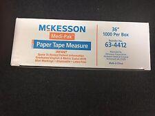 """McKesson 36"""" Paper Tape Measure box of 1000"""