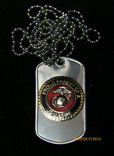 PROUD GRANDPARENT OF A US MARINE DOG TAG PIN BOOT CAMP GRADUATION SON MOM DAD
