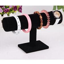 Velvet T-Bar Jewelry Rack Bracelet Necklace Stand Organizer Holder Display   VC