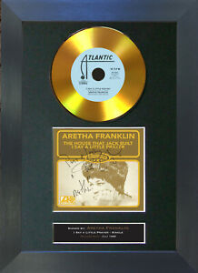 GOLD DISC ARETHA FRANKLIN Little Prayer Signed Autograph Mounted Print A4 173