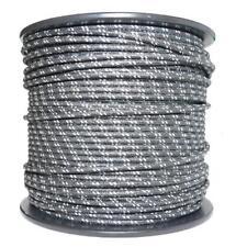 1m Algodón Trenzado Eléctrico Del Automóvil Cable calibre 18 Negro Blanco