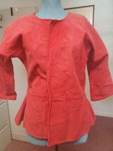short gown, short jacket, revolutionary war, 18th c, work, handmade, colonial