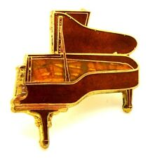 Pin Spilla Pianoforte A Coda cm 3,6 x 3,4 - (Future Primitive Made In USA)