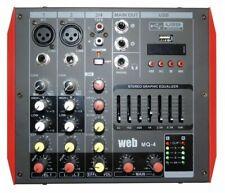 MIXER AMPLIFICATO ATTIVO BLUETOOTH 400W DJ LIVE EFFETTI DISPLAY USB + PHANTOM