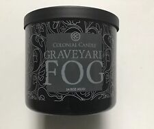 COLONIAL CANDLE GRAVEYARD FOG 14.5 oz 3-WICK HALLOWEEN LICORICE SCENT VHTF