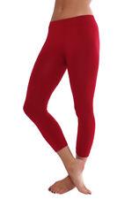 "Seamless Basic Nylon-Spandex 27"" Capri Leggings REG and PLUS sizes"