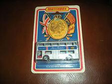 SILVER JUBILEE - SOUVENIR JUBILEE BUS MATCHBOX 1976 - NEUF SOUS COQUE PLASTIQUE